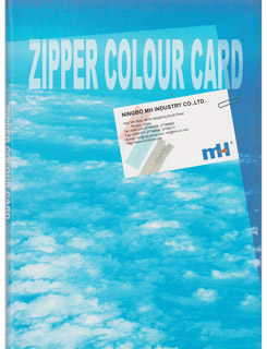 zipper color card