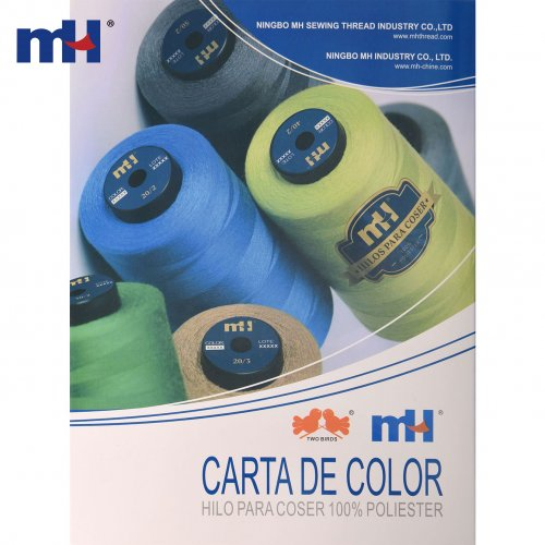 Carta de color de hilo de coser de poliéster MEXICO
