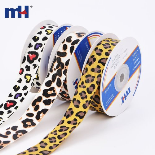 Listón impreso con leopardo